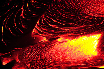 Detail of flowing lava, Hawaii Volcanoes National Park, Hawaii, USA