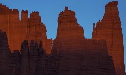 Red rock cliffs near Moab, Utah, USA