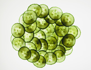 Organic cucumber slices