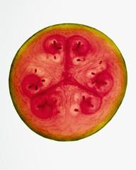 Organic watermelon slice