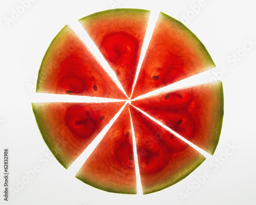 Organic watermelon slices