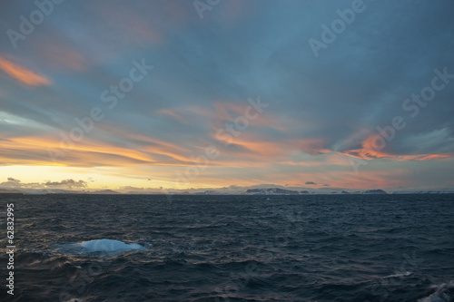 Sunset in the Weddell Sea.