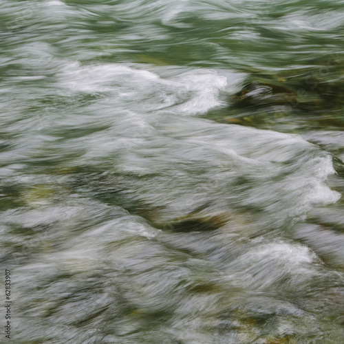 Detail of flowing river water, Dosewallips River, Olympic NP, WA