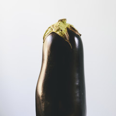 Close up of organic eggplant.