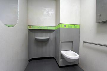 Intérieur de sanisette parisienne