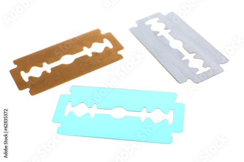 Razor blades isolated on white