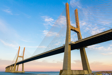 Vasco da Gama Suspension Bridge in Lisbon