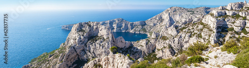 Calanques near Marseille and Cassis in south of France