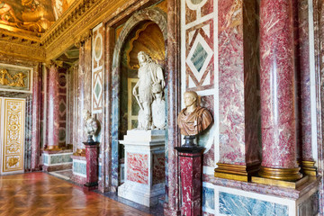 Interior Chateau of Versailles, Paris, France.