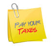 pay your taxes post illustration design
