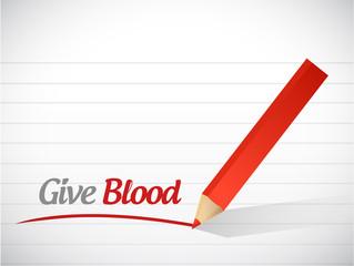 give blood message illustration design