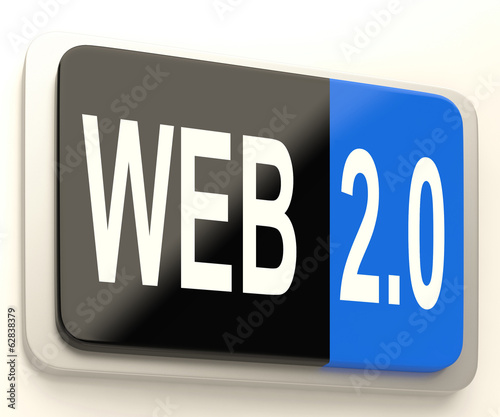 Web 2.0 Button Means Dynamic User WWW