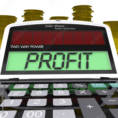 Profit Calculator Means Surplus Income And Revenue