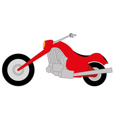 Vector Cartoon Simple Motorcycle On White Background