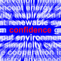 Confidence Word Shows Self-Assurance Composure And Belief