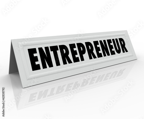 Entrepreneur Name Tent Card Expert Business Owner Advice