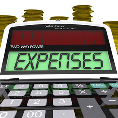 Expenses Calculator Shows Business Expenditure And Bookkeeping