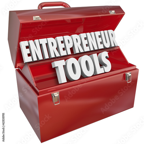 Entrepreneur Tools Red Toolbox Skills Ideas Information Help