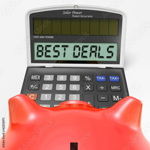 Best Deals Calculator Means Great Buy And Savings