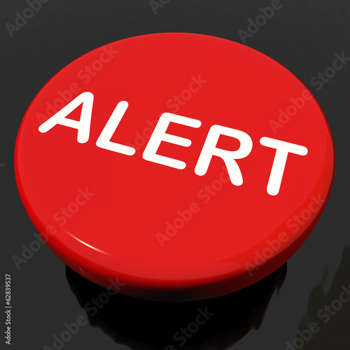 Alert Button Shows Danger Warning Or Beware