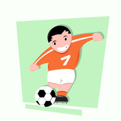 Soccer Kids Illustration