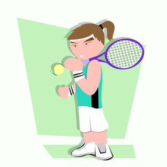 Tennis Kid Illustration