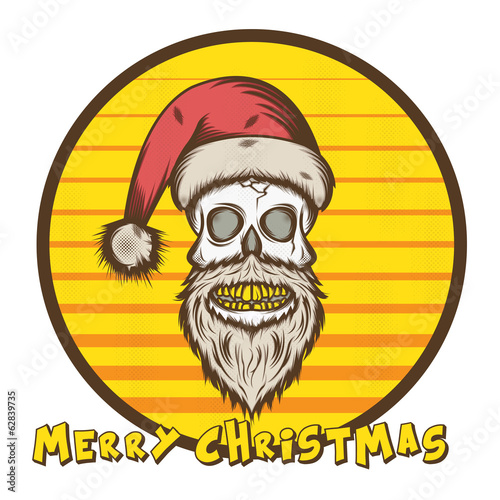 Skull Santa Christmas Edition Illustration