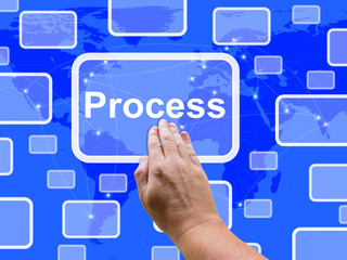 Process Touch Screen Shows Workflow Design