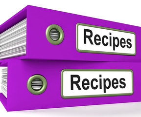 Recipes Folders Means Meals And Cooking Instructions