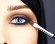 canvas print picture - close-up shot of woman eye makeup