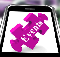 Events Smartphone Shows Calendar And What's On