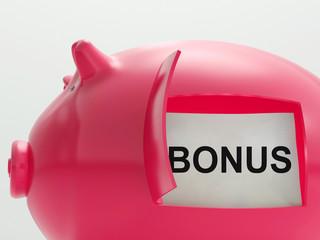Bonus Piggy Bank Means Perk Or Benefit