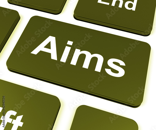 Aims Key Shows Targeting Purpose And Aspiration