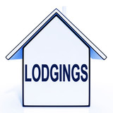 Lodgings House Means Rooms Accommodation Or Vacancies poster