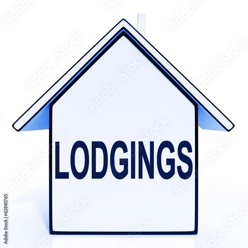 Lodgings House Means Rooms Accommodation Or Vacancies