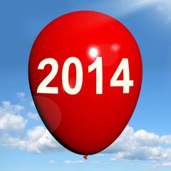Two Thousand Fourteen on Balloon Shows Year 2014
