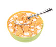 Bowl of cereal with milk.