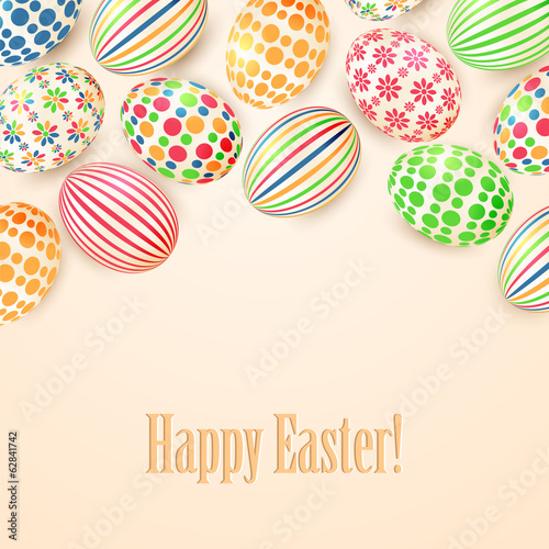 Background with colorful Easter eggs