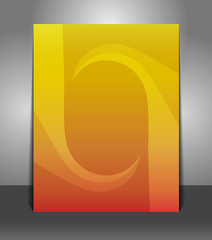 Abstract orange poster template background with whirlpool