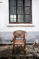 Abandoned wicker chair, Suzhou, China