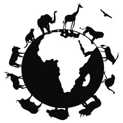 africa animal around the world