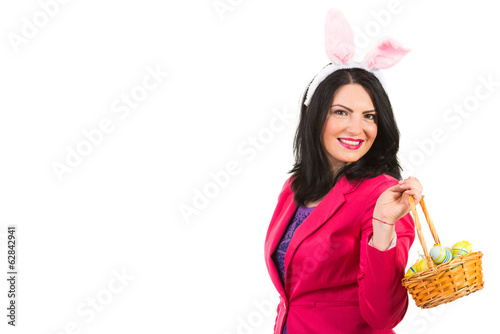 Beauty woman with Easter basket