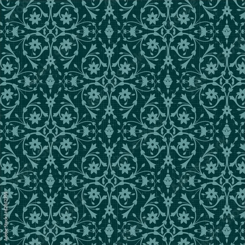 Pattern with vintage floral ornament