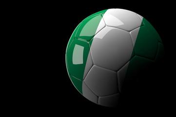 Nigeria soccer ball on dark background