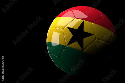 Ghana soccer ball on dark background