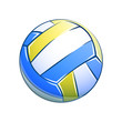 Volleyball  ball. Eps10 vector illustration. Isolated on white