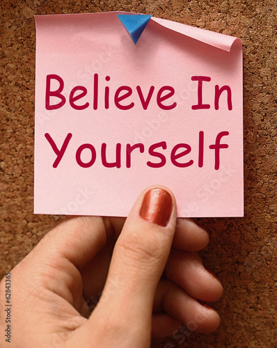 canvas print picture Believe In Yourself Note Shows Self Belief