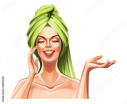 Beautiful girl. Eps10 vector illustration. Isolated on white