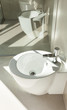 Interior of modern house, detail bathroom