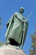 Leinwanddruck Bild - Statue of King Dom Afonso Henriques